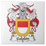Escudo de la familia de Galalon Azulejo