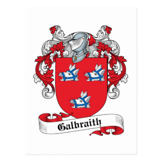 Escudo de la familia de Galbraith Tarjetas Postales