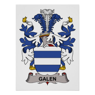 Escudo de la familia de Galen Posters