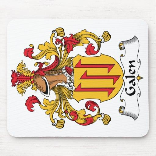 Escudo de la familia de Galen Alfombrillas De Raton