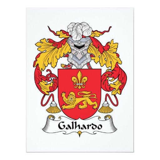 Escudo de la familia de Galhardo Invitacion Personalizada