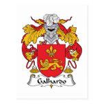 Escudo de la familia de Galhardo Tarjeta Postal