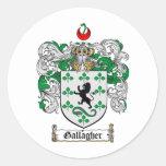 ESCUDO DE LA FAMILIA DE GALLAGHER - ESCUDO DE ARMA ETIQUETAS