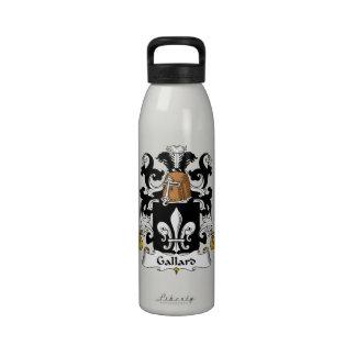 Escudo de la familia de Gallard Botella De Agua Reutilizable