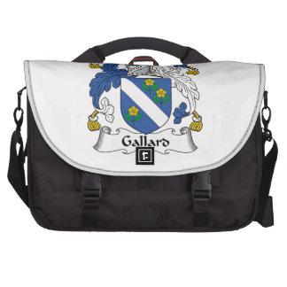 Escudo de la familia de Gallard Bolsa Para Ordenador