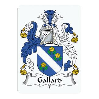 Escudo de la familia de Gallard Invitación