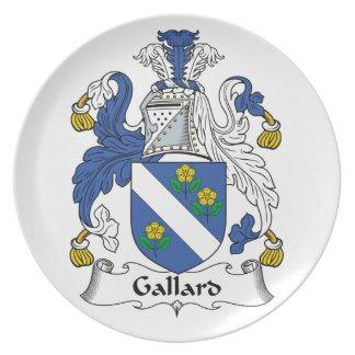Escudo de la familia de Gallard Plato De Comida