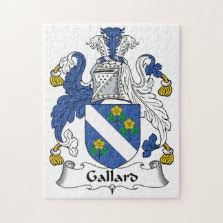 Escudo de la familia de Gallard Rompecabeza Con Fotos