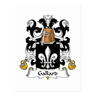 Escudo de la familia de Gallard Postales