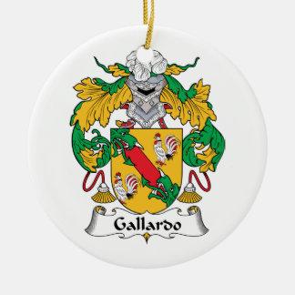 Escudo de la familia de Gallardo Ornamento Para Arbol De Navidad