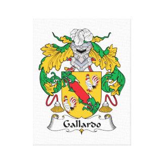 Escudo de la familia de Gallardo Lona Estirada Galerías