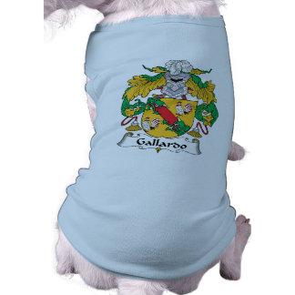 Escudo de la familia de Gallardo Camisetas De Mascota