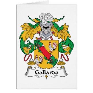 Escudo de la familia de Gallardo Tarjetón