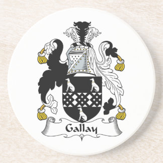 Escudo de la familia de Gallay Posavasos Cerveza