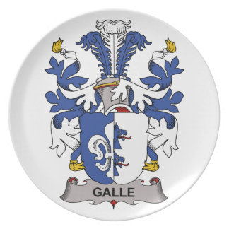 Escudo de la familia de Galle Plato De Comida