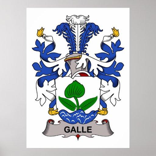 Escudo de la familia de Galle Poster