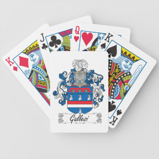 Escudo de la familia de Gallesi Baraja Cartas De Poker