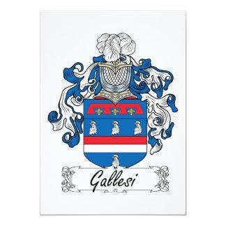 """Escudo de la familia de Gallesi Invitación 5"""" X 7"""""""