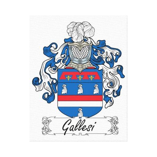 Escudo de la familia de Gallesi Lienzo Envuelto Para Galerías