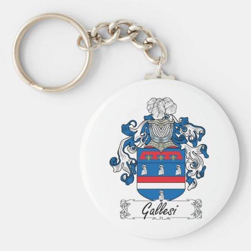 Escudo de la familia de Gallesi Llavero Redondo Tipo Pin