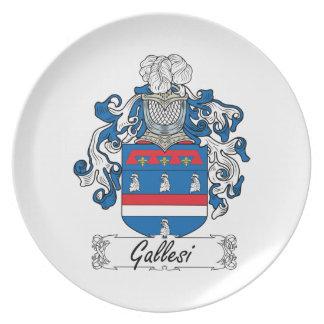Escudo de la familia de Gallesi Platos Para Fiestas
