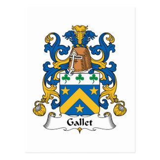 Escudo de la familia de Gallet Tarjetas Postales