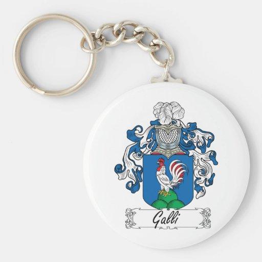 Escudo de la familia de Galli Llavero Personalizado