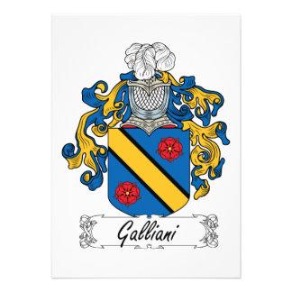 Escudo de la familia de Galliani Comunicado Personalizado