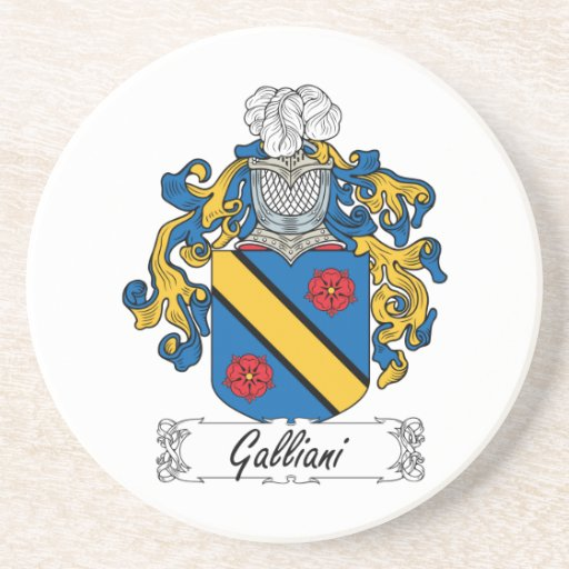 Escudo de la familia de Galliani Posavasos Para Bebidas