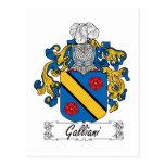 Escudo de la familia de Galliani Tarjetas Postales