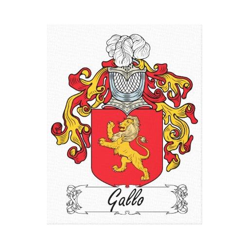 Escudo de la familia de Gallo Impresión En Lona Estirada