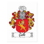 Escudo de la familia de Gallo Tarjeta Postal