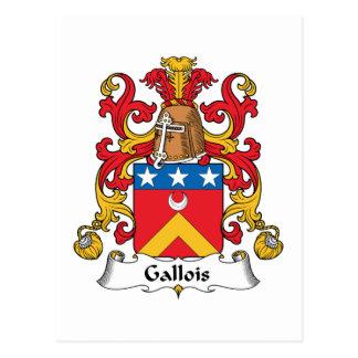 Escudo de la familia de Gallois Postal