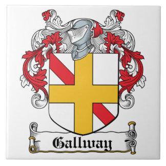 Escudo de la familia de Gallway Azulejo Cuadrado Grande