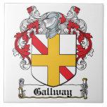 Escudo de la familia de Gallway Azulejos Ceramicos