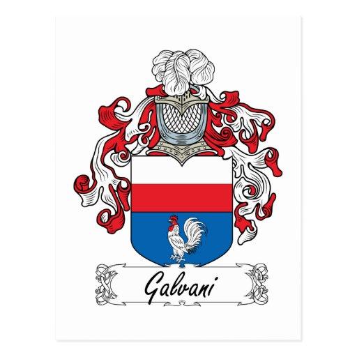 Escudo de la familia de Galvani Tarjetas Postales