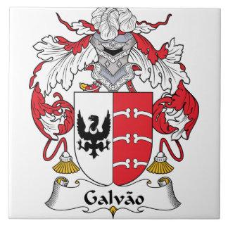 Escudo de la familia de Galvao Azulejo Cuadrado Grande