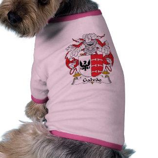 Escudo de la familia de Galvao Camiseta Con Mangas Para Perro