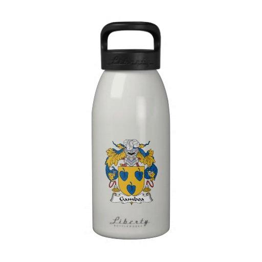 Escudo de la familia de Gamboa Botella De Agua Reutilizable