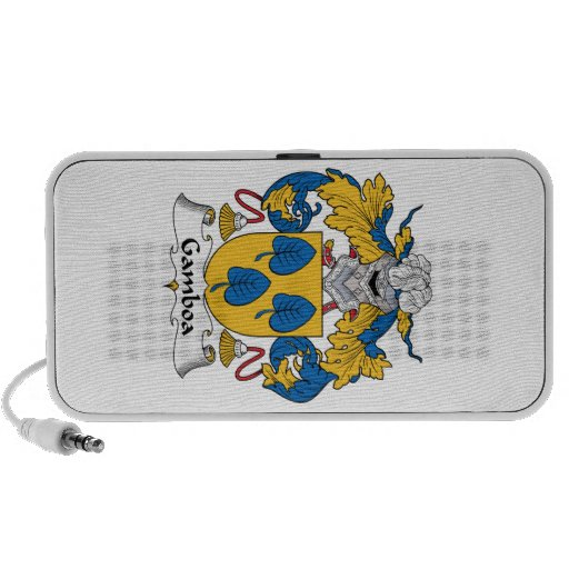 Escudo de la familia de Gamboa iPod Altavoz