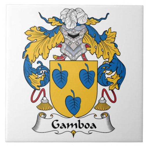 Escudo de la familia de Gamboa Teja Cerámica