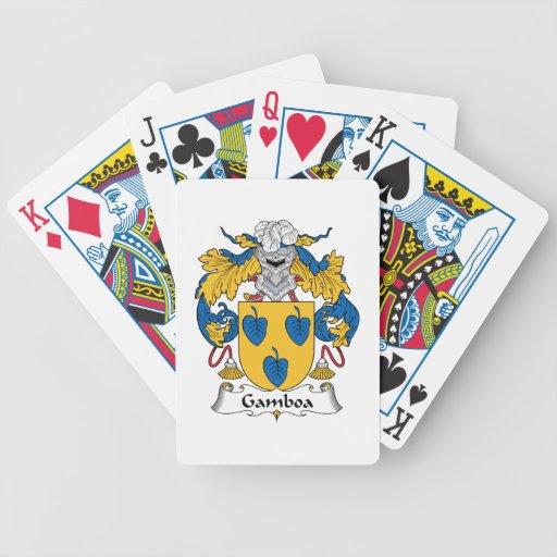 Escudo de la familia de Gamboa Baraja Cartas De Poker