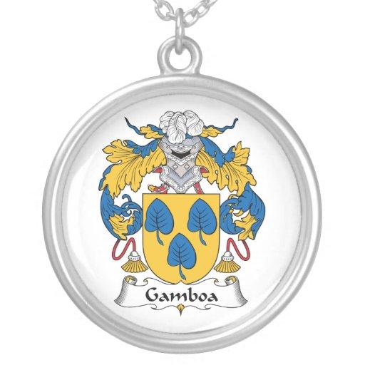 Escudo de la familia de Gamboa Grímpola