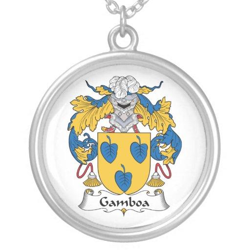Escudo de la familia de Gamboa Pendiente Personalizado