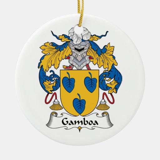 Escudo de la familia de Gamboa Ornamento Para Reyes Magos