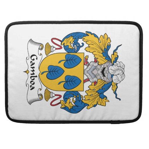 Escudo de la familia de Gamboa Funda Macbook Pro