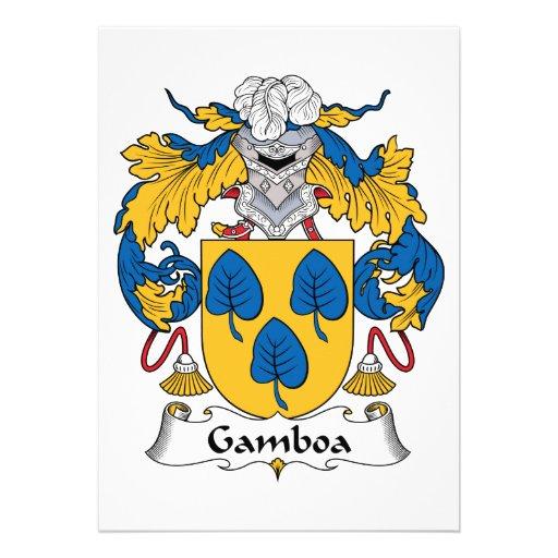 Escudo de la familia de Gamboa Invitaciones Personalizada
