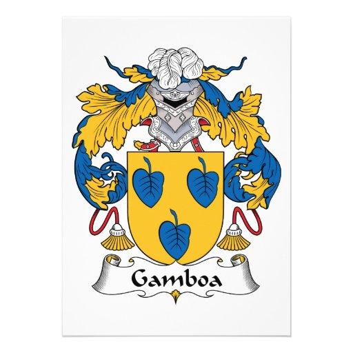 Escudo de la familia de Gamboa Invitación