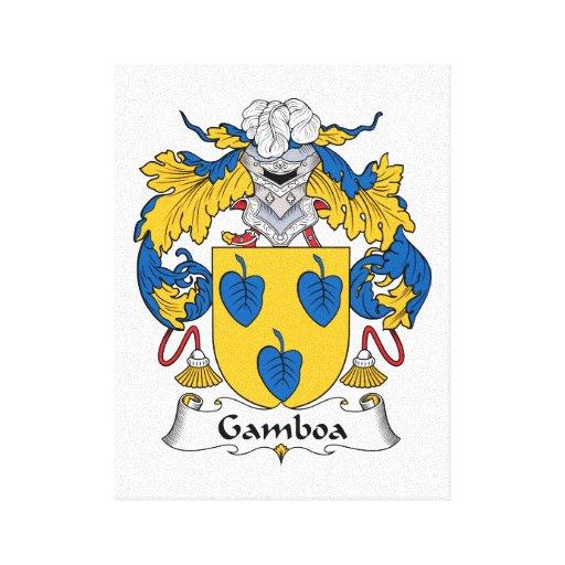 Escudo de la familia de Gamboa Impresiones En Lona Estiradas