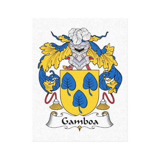 Escudo de la familia de Gamboa Impresion En Lona
